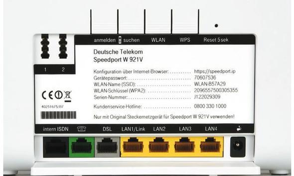 Speedport W 921 V Kabel Router Telekom Lan