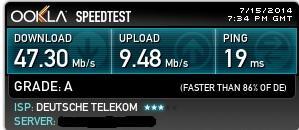 Bisher höchste Geschwindigkeit - (Computer, Internet, Speedtest)