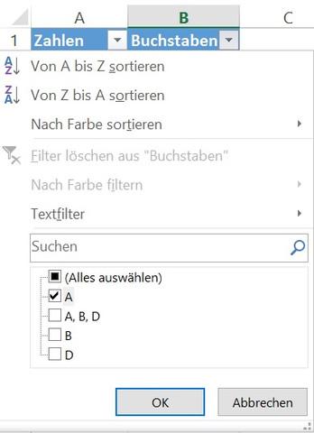 Kategorisierung - (Computer, Microsoft, Excel)