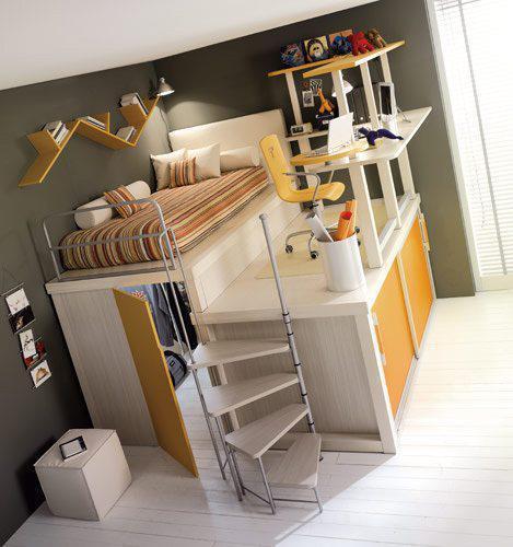 Spezielles hochbett f r erwachsene personen schlafen for Hochbett erwachsene