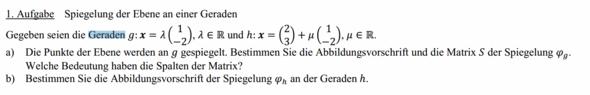 1. Die Aufgabenstellung - (Mathe, Mathematik, Vektoren)