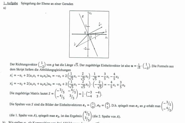 2. Die Lösung (für mich unverständlich) - (Mathe, Mathematik, Vektoren)