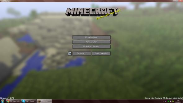 Minecraft-Screen mit Taskleiste und Fensterleiste im Fenstermodus - (Computer, Youtube, Bildschirm)