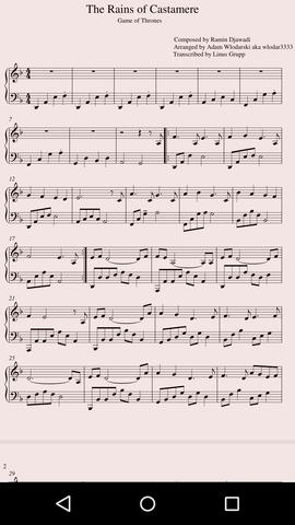 Die Noten: - (Musik, Noten, Klavier)