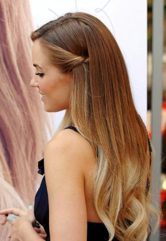 Haare von orange auf hellbraun