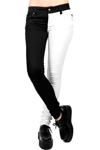 Split Leg Jeans vorne - (Internet, Männer, Hose)