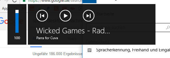 Das ist die Benachrichtigung, die aufplöppt, wenn ich ein Lied z.b pausiere  - (Windows 10, Spotify)