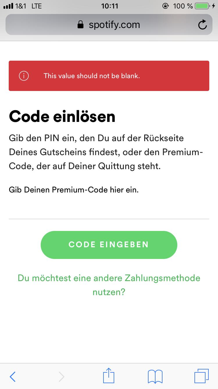 spotify karte einlösen Spotify Geschenkkarte kann ich nicht einlösen? (Computer, Musik