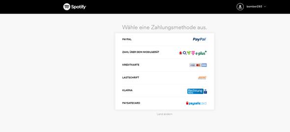 Die Spotify Zahlungsmittel. Normal auch Gutscheinkarte verfügbar! - (Betrug, Karten, Code)