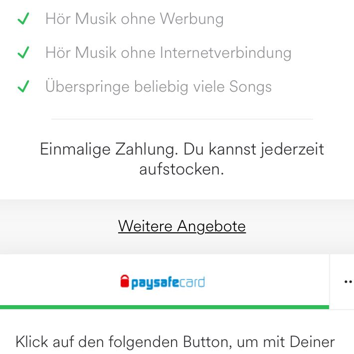 Spotify Premium Mit Paysafecard
