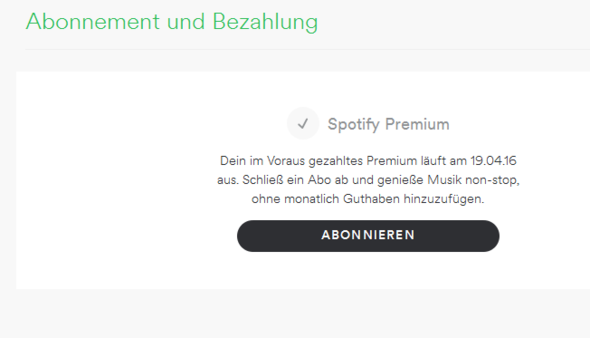 !! - (Spotify, Abonnement)