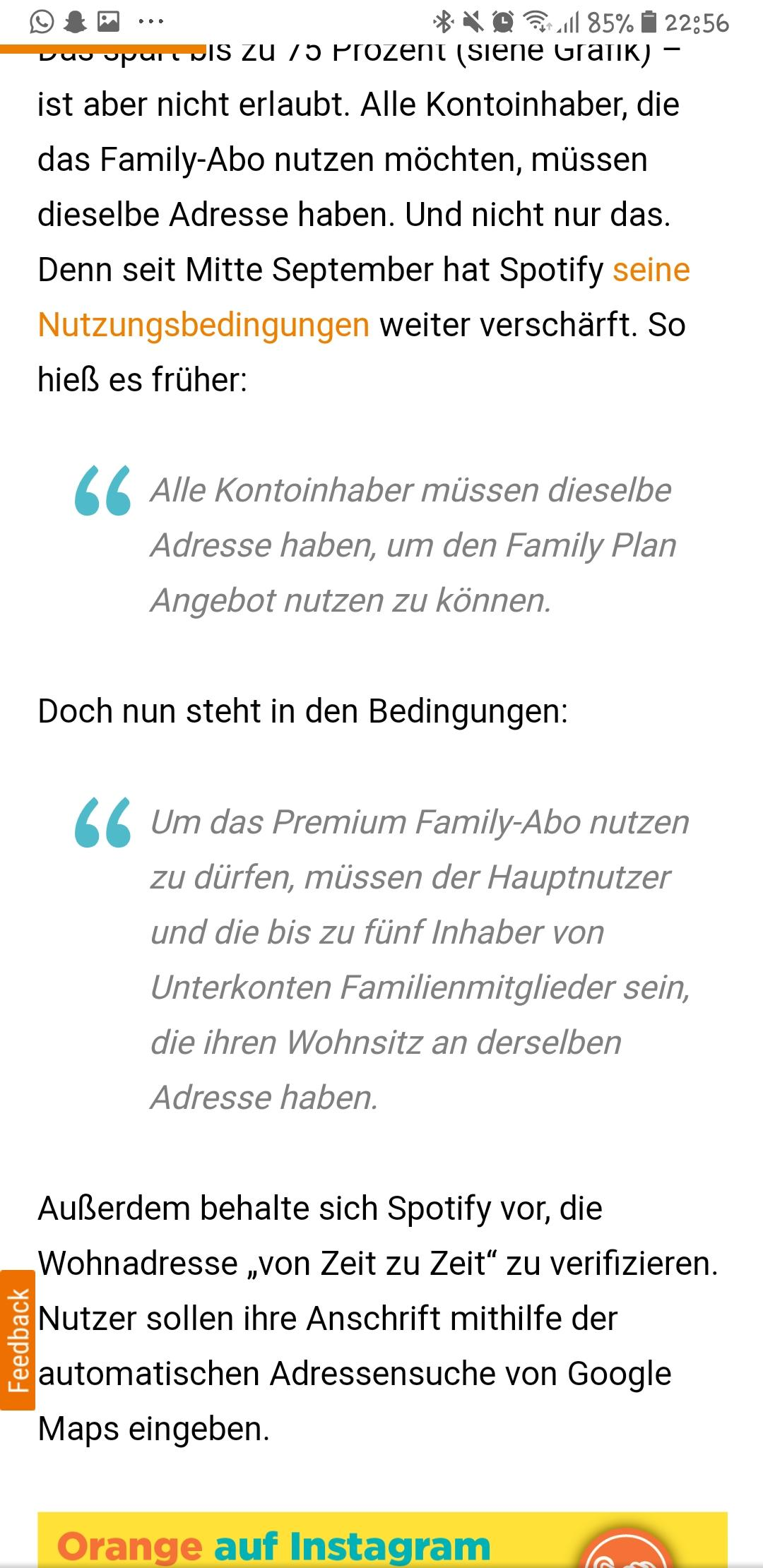 Spotify Family Adresse Angeben