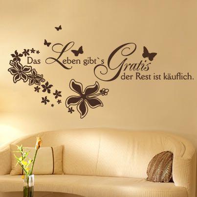 spruch auf wei e wand schreiben aber wie farbe spr che streichen. Black Bedroom Furniture Sets. Home Design Ideas