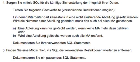 SQL Integrität Sicherstellen?