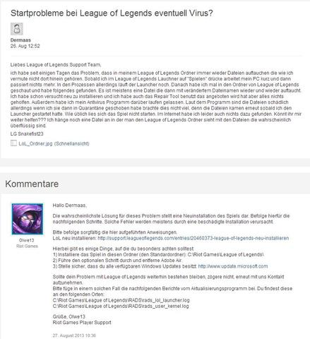 League of Legends Support - (Computer, Virus)
