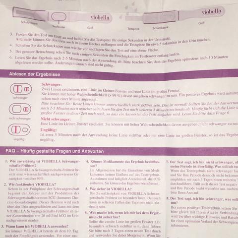 Beipackzettel Beschreibung  - (Schwangerschaft, Test, sstest)