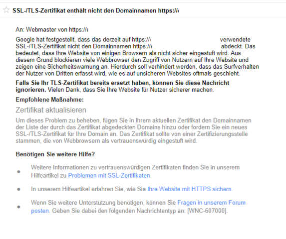 SSL-/TLS-Zertifikat enthält nicht den Domainnamen? (Computer ...