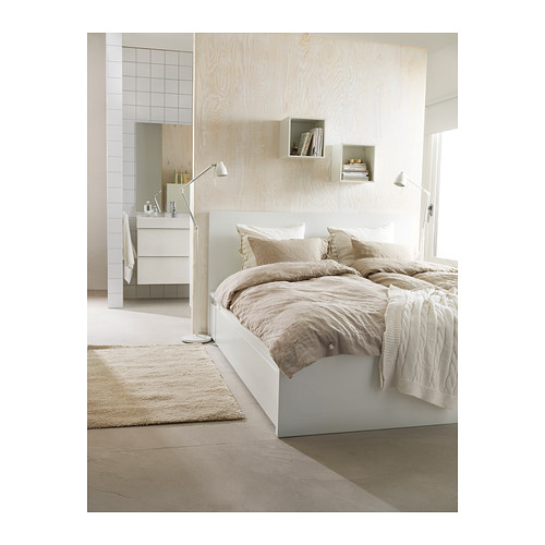 stabiles gutes bett in ikea malm optik wei m bel m belhaus. Black Bedroom Furniture Sets. Home Design Ideas