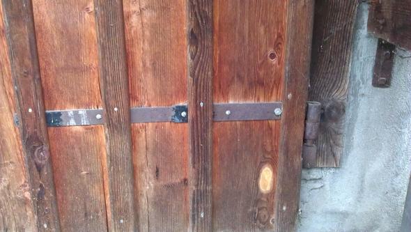 Haken als Stange gefertigt (viel aufwändiger) (Aussen-Tür) - (Holz, Handwerker, schreiner)