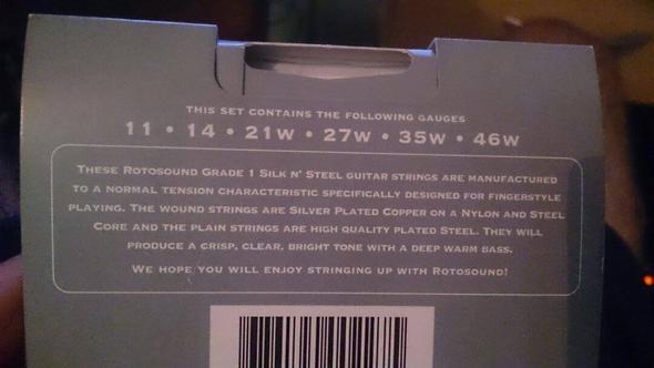 Beschreibung der Saiten - (Gitarre, Saiten, westerngitarre)