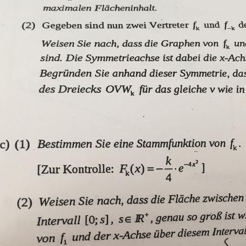 Die Lösung  - (Mathe, Abitur, Integration)