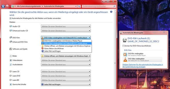 Standardprogramm Für Dvd Wiedergabe ändern Auf Windows7 Computer