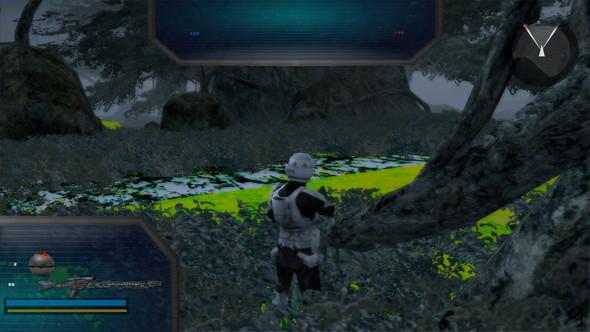 Hier ist es auch grün, es kann auch manchmal rot sein, die Farben ändern sich - (Spiele, Gaming, Computerspiele)