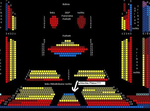 Saalplan Starlight Express - (Musical, Veranstaltung, Oper)