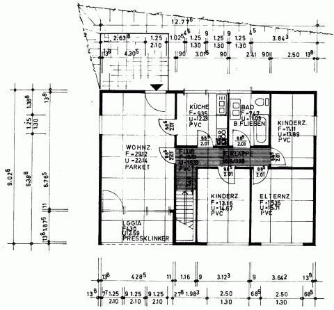 Grundriss der Etage in Fertigbauweise - (Fenster, Hausbau, fertighaus)