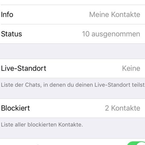 Whatsapp blockierte kontakte status