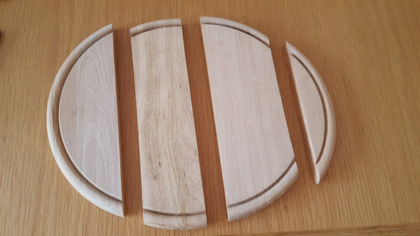 Holzbrettchen Rund steakholzbrettchen rund aus einem stück küche holzbrettchen