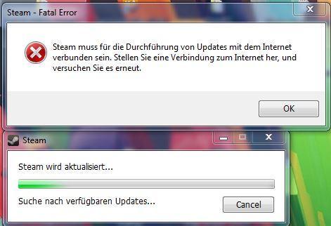 Steam Fatal Error - (Internet, Steam)