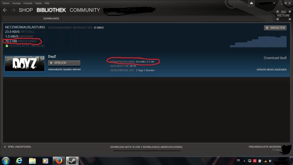 Download-Fortschritt ist markiert! - (Download, Steam)
