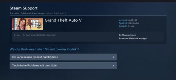 Schritt 4 - (Steam, GTA V, Rückgabe)