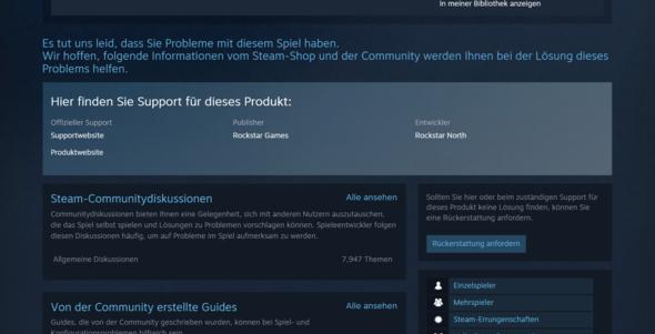 Schritt 5 - (Steam, GTA V, Rückgabe)