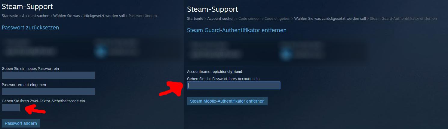 steam passwort vergessen was tun