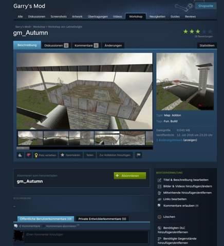 Steam Workshop Addons löschen als gewöhnlicher Nutzer?