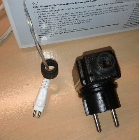 Stecker Für Weihnachtsbeleuchtung.Stecker Weihnachtsbeleuchtung Kupplung