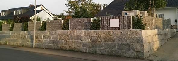 """""""Steinmauern"""" als Sichtschutz?"""