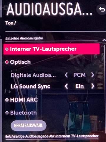 Stereoanlage an Fernseher?