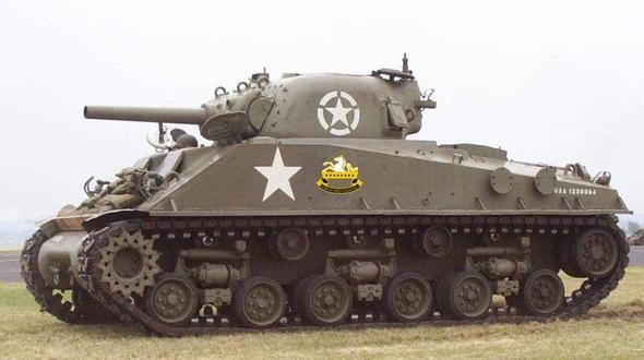 Ein sherman Panzer mit Stern - (Geschichte, Krieg, Sterne)