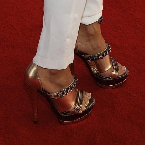 high heels bronze - (Beauty, High Heels, Siefeletten)