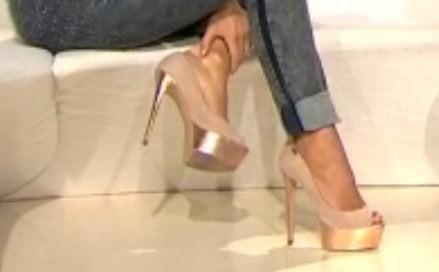 high heels gold - (Beauty, High Heels, Siefeletten)