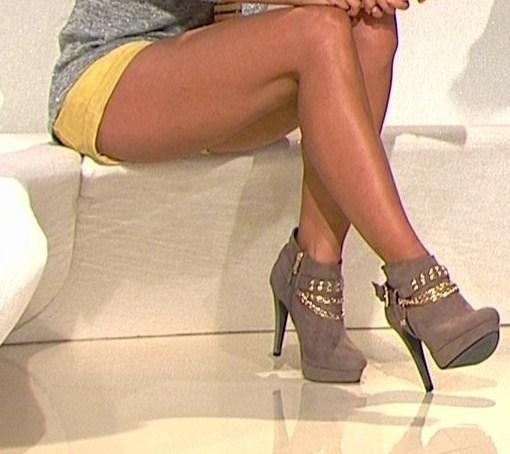 stiefeletten grau - (Beauty, High Heels, Siefeletten)