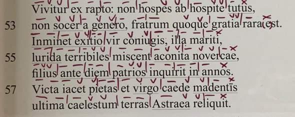 Stimmt die Folgende Skandierung dieses Ovid Textstücks? (Brauche dringend Hilfe, bitte ;)?