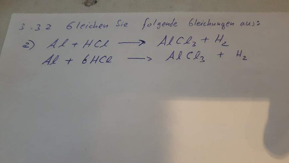 Bild - (Chemie, Reaktionsgleichung, ausgleichung)