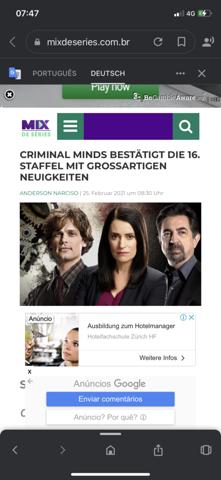 Stimmt diese Meldung aus Portugal über Criminal Minds?