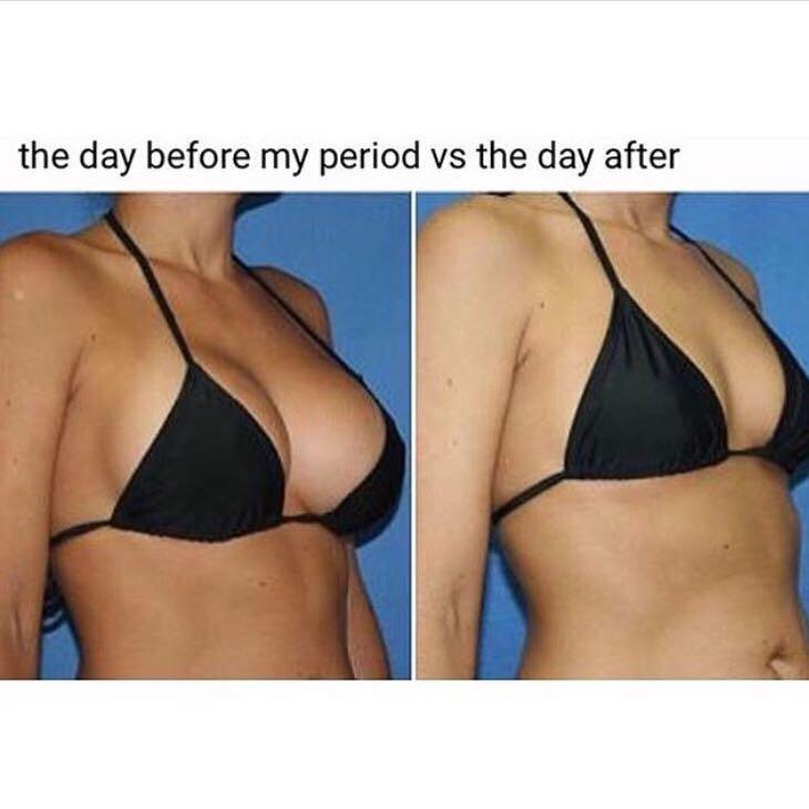 Stimmt es dass die Brüste kurzzeitig nach der Periode