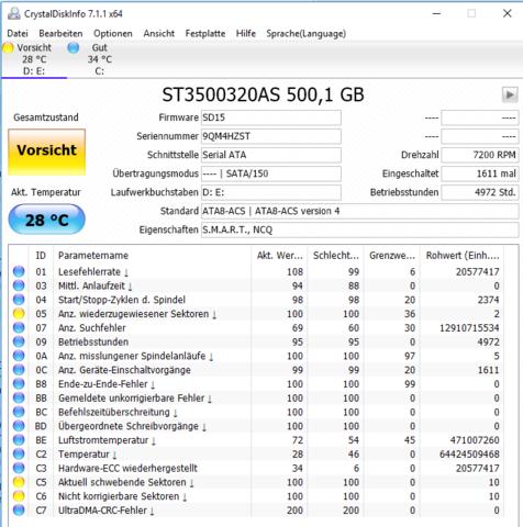 CrystalDiskIno - (Computer, PC, Hardware)