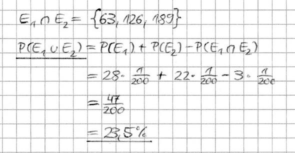 Stochastik: Anwendungsaufgaben zur Summenregel - wer kann meine ...